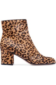 cd3f8ee5902 Gianvito Rossi - Margaux 65 leopard-print calf hair ankle boots