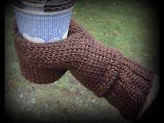 Beverage Cozy Mitt. Video Tutorial #3 - YouTube this part gives me an idea how to do for knitting.
