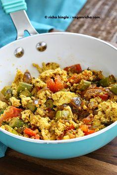 Smoky Asparagus Tofu Scramble. Spring Vegan Glutenfree Recipe   Vegan Richa