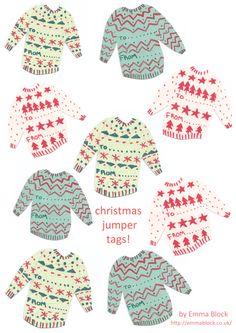 Printable Christmas Sweater Gifts Tags