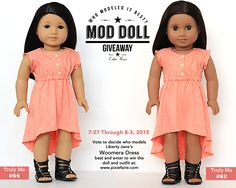 Mod Doll Monday Giveaway! Win the American Girl Doll and the Liberty Jane Woomera Dress - Enter at Pixie Faire through 8-3-15