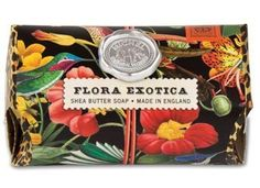 Michel Design Works Flora Exotica Large Bath Soap Bar by Michel Design Works. $9.00. These substantial 7.3-ounce / 260 gram bars contain only the finest ingredientspure vegetable palm oil, glycerine, and rich, moisturizing shea butter.. Each piece is triple-milled and handmade in Sussex, England, where our artisanal soap maker oversees every step of the process. Such painstaking care ensures a product that is thoroughly-blended, firm, long lasting, and silky smooth.