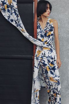 SINCE THEN Ink Print Floral Vacation Suit3