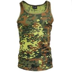 Men's Flecktarn Tank Top This one is for the. Mesh T Shirt, T Shirt And Shorts, Battle Dress, Desert Camo, Army Surplus, Outdoor Outfit, Fashion Advice, Camouflage, Weather