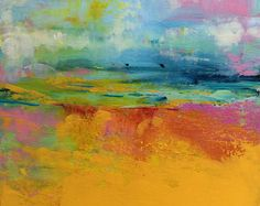 Paisaje abstracto pintura de acrílico por SallyKellyPaintings