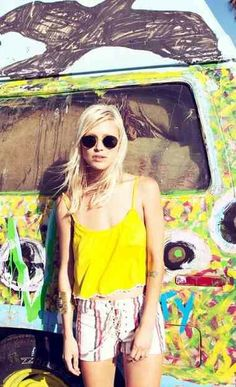 Colorful indie fashion