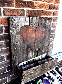 Funky Junk Interiors: Cute mailboxes and garden features... from a blogger papergirl
