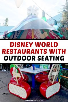 Disney World Restaurants with Outdoor Seating // WDW Basics // Disney World restaurants with outdoor seating are ideal for dining in the fresh air when returning to the parks following the Disney World reopening. Here I'm sharing the best Disney World restaurants with outdoor seating and where you can enjoy al fresco meals. // PIN THIS and TAP TO READ #disneydining #disneyrestaurants #disneyworldrestaurants Best Disney World Restaurants, Disney World Food, Walt Disney World, Disney World Vacation Planning, Trip Planning, Restaurants Outdoor Seating, Disney Drinks, Disney World Characters, Disney Dining