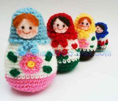 matrioska crochet pattern - Buscar con Google