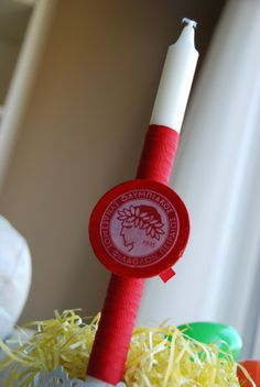 Olympiakos Easter Candle, sent to Illinois US