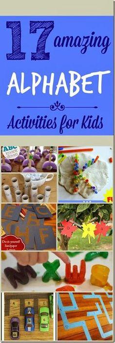 17 amazing alphabet activities for kids #alphabet #preschool #kindergarten