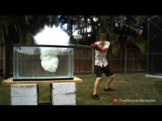 An Experiment Pouring Molten Salt Into a Tank of Water Resulting In a Series of Explosions
