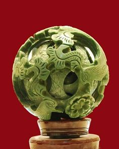 Jade carved story ball