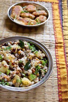 sabudana khichdi - an indian delicacy made with tapioca pearls, vegan & gluten free