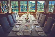 Weddinplanner Austria  Seehotel Grundlsee Table Settings, In This Moment, Place Settings, Table Arrangements, Desk Layout