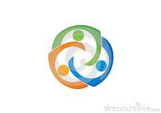 Teamwork education Logo,Social,Team illustration symbol icon,people Network design vector logotype - http://www.dreamstime.com/stock-photography-image47394942#res7049373