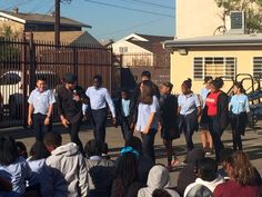 With the help of some of our scholars, @iamValC taught a salsa lesson to #KIPP Scholar Academy. #kippla #DWTS
