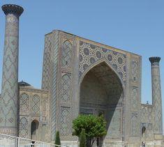 Los reflejos azules de Samarkanda I: El Registán Taj Mahal, Building, Travel, Blue Highlights, Blue Nails, Alexander The Great, Bazaars, Paths, Monuments