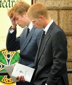 Princes William and Harry at the funeral of their mother, Diana, Princess of Wales [Getty Images]