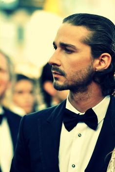 I hate bow ties, but not on Shia LeBeouf;)