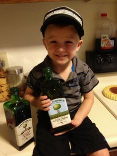 Even this little guy loves California Olive Ranch #oliveoil #tasteguarantee