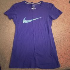 Nike Slim Fit Blue Athletic Shirt Short sleeves cotton Nike Shirt. Barely worn with no stains or rips. Nike Tops Tees - Short Sleeve