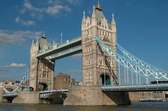 The Tower Bridge is close to the Tower of London, hence its name. The bridge was finished in 1894.   The bridge is a symbol of London and is often mistakenly called London Bridge, which is the next bridge upstream.