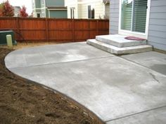 inexpensive concrete patio ideas | concrete patios | cement patio ... - Slab Patio Ideas