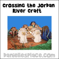 Bible Craft for kids - Crossing the Jordan River Bible Craft from www.daniellesplace.com