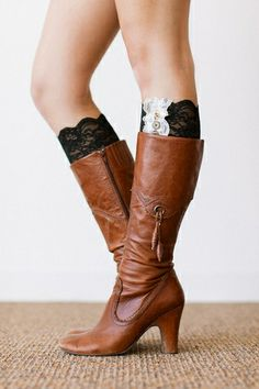 25b40b673a13 This Black Lace Boot Cuffs - Women by Three Bird Nest is perfect! Only 2  days left for sale!
