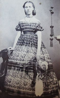 CDV Photo Civil War Era Young Lady Holding Hat | eBay