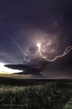 Photograph Forked Bolt by Jay Bell, lightening, thunder storm, cloudy sky, mysterious, beauty of Nature, photo