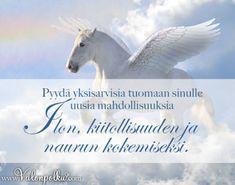Pyydä yksisarvisia tuomaan sinulle aiheita iloon Horses, Animals, Animales, Animaux, Animais, Horse, Words, Animal