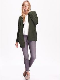 Open-Front Cable-Knit Cardigan | Old Navy | Clothes and Shoes I ...