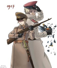 Russia and Latvia Hetalia