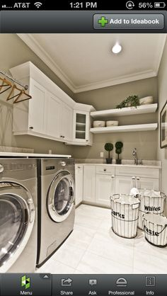 The basement laundry room doesn't have to lack style. These all basement laundry room ideas 2019 offer easy design for a better laundry room. House Styles, House Design, Laundry, House Interior, Laundry In Bathroom, Home, Laundry Mud Room, Basement Laundry, Room Design