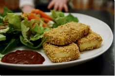 breaded, baked tofu from Healthy Tipping Point