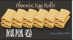 Phoenix Rolls is a spin off of the Crunchy Egg rolls with delicious fillings. The more popular filling being sweet coconut and sesame filling is usually what. Egg Roll Recipes, Great Recipes, Chinese Egg Rolls, Chinese New Year Cookies, Roll Cookies, Pancakes, Roasted Peanuts, Rolls Recipe, Food To Make