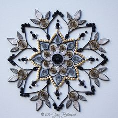 Gilded Silver and Gold Quilled Mandala