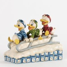 jim shore disney downhill ducks disney statues disney figurines christmas figurines jim shore