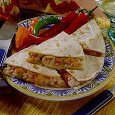 Tuna Quesadillas - brilliant, I say!!  Surprisingly filling too.