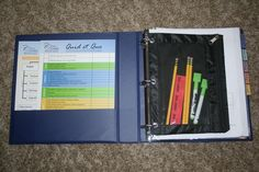 Organizing an Essentials student notebook