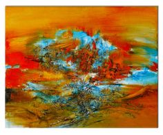 Canvas print Abstract Earth Orange