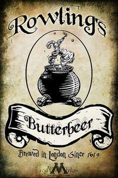 Image result for Butter Beer Label