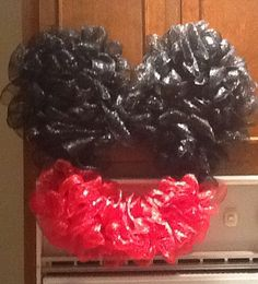 Mickey deco mesh wreath Mickey Wreath, Deco Mesh Wreaths