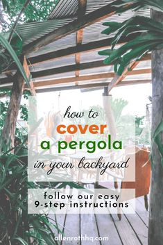 Pergola For Small Backyard Covered Pergola Patio, Gazebo Pergola, Deck With Pergola, Cheap Pergola, Pergola Shade, Pergola Cover, Pergola Ideas, Patio Ideas, Yard Ideas