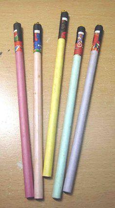 Washi dolls on pencils