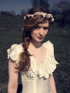 boho wedding flower crowns and garlands by Wimslow Collection