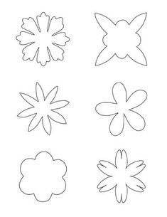 Printable flower pattern, use for fabric flowers for a craft for Megan. Felt Flowers Patterns, Felt Patterns, Applique Patterns, Handmade Flowers, Diy Flowers, Fabric Flowers, Felt Flower Template, Printable Flower, Felt Crafts