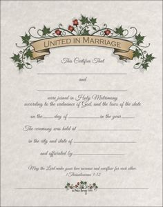 in marriage do you have an upcoming marriage wedding or commitment ceremony celebrate your holy union with a ceremonial certificate decorative